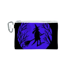 Halloween witch - blue moon Canvas Cosmetic Bag (S)