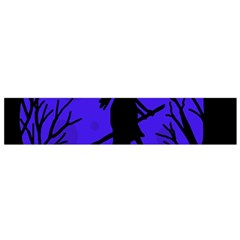 Halloween witch - blue moon Flano Scarf (Small)