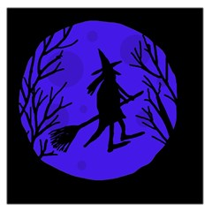 Halloween witch - blue moon Large Satin Scarf (Square)