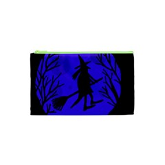 Halloween witch - blue moon Cosmetic Bag (XS)