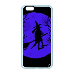 Halloween witch - blue moon Apple Seamless iPhone 6/6S Case (Color)
