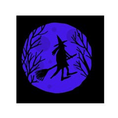 Halloween Witch   Blue Moon Small Satin Scarf (square)