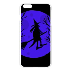Halloween witch - blue moon Apple Seamless iPhone 6 Plus/6S Plus Case (Transparent)