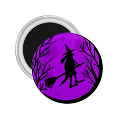 Halloween witch - Purple moon 2.25  Magnets