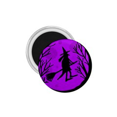 Halloween witch - Purple moon 1.75  Magnets