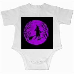 Halloween witch - Purple moon Infant Creepers
