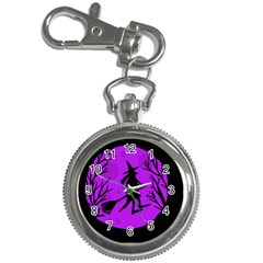 Halloween witch - Purple moon Key Chain Watches
