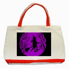 Halloween witch - Purple moon Classic Tote Bag (Red)