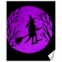 Halloween witch - Purple moon Canvas 16  x 20