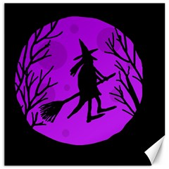 Halloween witch - Purple moon Canvas 20  x 20