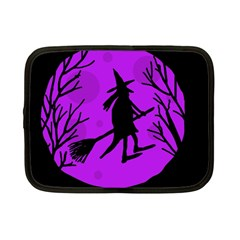 Halloween witch - Purple moon Netbook Case (Small)