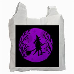 Halloween witch - Purple moon Recycle Bag (One Side)