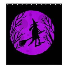 Halloween witch - Purple moon Shower Curtain 66  x 72  (Large)