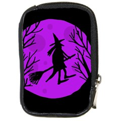 Halloween witch - Purple moon Compact Camera Cases