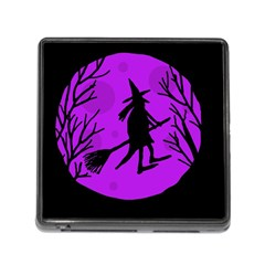 Halloween witch - Purple moon Memory Card Reader (Square)