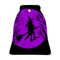 Halloween witch - Purple moon Ornament (Bell)