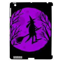 Halloween witch - Purple moon Apple iPad 3/4 Hardshell Case (Compatible with Smart Cover)