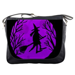 Halloween witch - Purple moon Messenger Bags