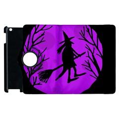Halloween witch - Purple moon Apple iPad 2 Flip 360 Case
