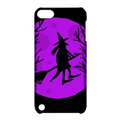 Halloween witch - Purple moon Apple iPod Touch 5 Hardshell Case with Stand
