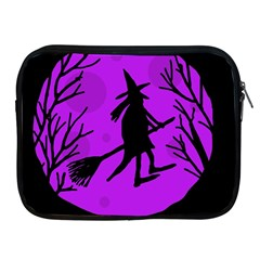 Halloween witch - Purple moon Apple iPad 2/3/4 Zipper Cases