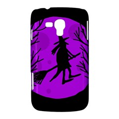 Halloween witch - Purple moon Samsung Galaxy Duos I8262 Hardshell Case