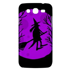 Halloween witch - Purple moon Samsung Galaxy Mega 5.8 I9152 Hardshell Case