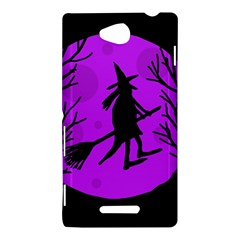 Halloween witch - Purple moon Sony Xperia C (S39H)