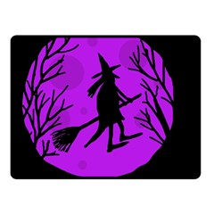 Halloween witch - Purple moon Double Sided Fleece Blanket (Small)