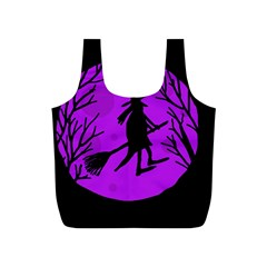 Halloween witch - Purple moon Full Print Recycle Bags (S)