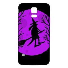 Halloween witch - Purple moon Samsung Galaxy S5 Back Case (White)