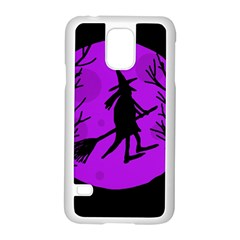 Halloween witch - Purple moon Samsung Galaxy S5 Case (White)