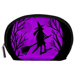 Halloween witch - Purple moon Accessory Pouches (Large)