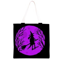 Halloween witch - Purple moon Grocery Light Tote Bag
