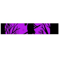 Halloween witch - Purple moon Flano Scarf (Large)