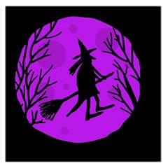 Halloween witch - Purple moon Large Satin Scarf (Square)