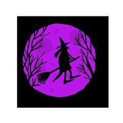 Halloween witch - Purple moon Small Satin Scarf (Square)