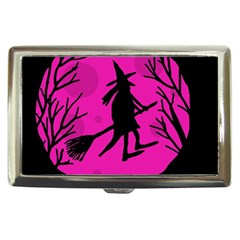 Halloween witch - pink moon Cigarette Money Cases