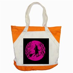 Halloween witch - pink moon Accent Tote Bag