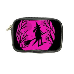 Halloween witch - pink moon Coin Purse