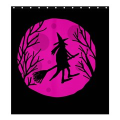 Halloween witch - pink moon Shower Curtain 66  x 72  (Large)