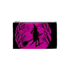Halloween witch - pink moon Cosmetic Bag (Small)