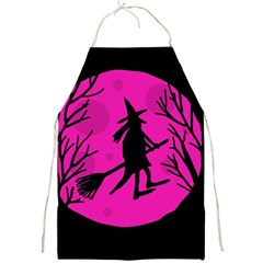 Halloween witch - pink moon Full Print Aprons