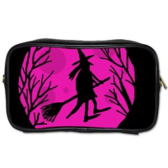 Halloween witch - pink moon Toiletries Bags