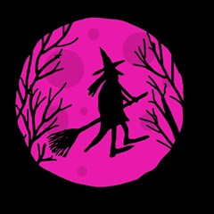Halloween witch - pink moon Magic Photo Cubes