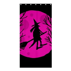 Halloween witch - pink moon Shower Curtain 36  x 72  (Stall)