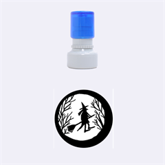Halloween witch - pink moon Rubber Round Stamps (Small)