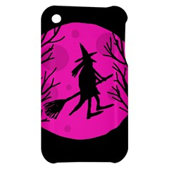 Halloween witch - pink moon Apple iPhone 3G/3GS Hardshell Case
