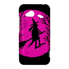 Halloween witch - pink moon HTC Droid Incredible 4G LTE Hardshell Case