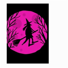 Halloween witch - pink moon Large Garden Flag (Two Sides)